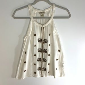 Lucky Brand Embroidered Tank XS